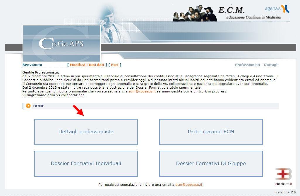 Recuperare 300 crediti Cogeaps - passo 2 - ebookecm